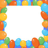 Illustration of a Birthday Celebrant postcard banner vector balloon birthday party Royalty Free Stock Photo