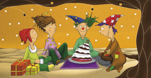 The illustration of the birthday party Stock Image