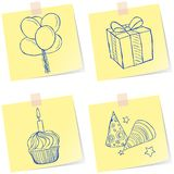 Birthday party sketches Royalty Free Stock Photos
