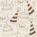 Illustration birthday seamless wallpaper Royalty Free Stock Photos