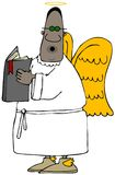 Ethnic angel singing from a hymnbook. Royalty Free Stock Image