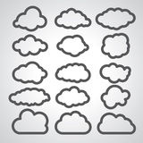 Illustration of black clouds collection Stock Photo