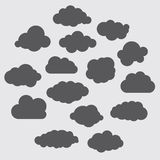 Illustration of black clouds collection Royalty Free Stock Photo