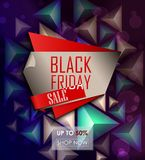 Black friday sale design template Stock Images