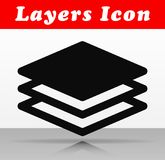 Black layers vector icon design. Illustration of black layers vector icon design stock illustration