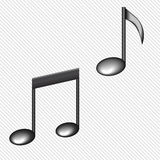 Illustration of a black notes isolated on white Royalty Free Stock Image