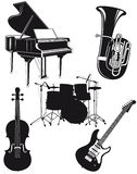 Orchestral instruments Stock Photography