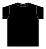 Illustration of black T-shirt Royalty Free Stock Image