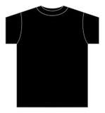 Illustration of black T-shirt. On white background Royalty Free Stock Image