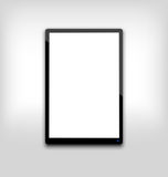 Illustration  black tablet pc computer blank white screen Stock Photography