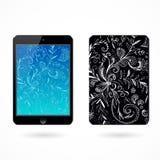Illustration of black tablet pc on white Royalty Free Stock Photos