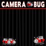 Illustration - Black White-Red - Camera Bug Stock Images
