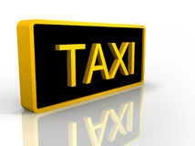 Illustration of a black and yellow taxi sign Stock Image