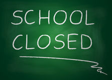 School closed. Illustration of blackboard on which is written with chalk school closed Royalty Free Stock Photography