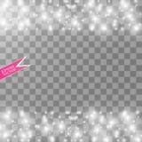 Illustration blanche d'abrégé sur vague de scintillement de vecteur Particules de scintillement d'étoile de traînée blanche de la Photographie stock