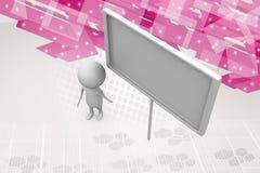 illustration blanche d'affiche de l'homme 3d Images libres de droits