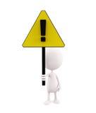 Illustration blanche de caractère avec le signe Photo stock