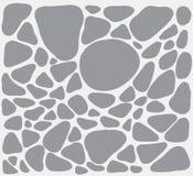 Illustration blanche et grise avec des formes simples simular aux pierres illustration stock
