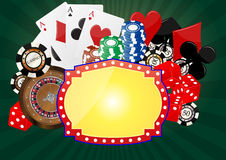 Banner casino Royalty Free Stock Images