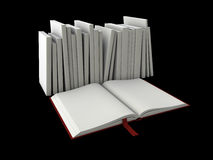 Illustration of Blank book cover template with pages. 3d Illustration of Blank book cover template with pages Royalty Free Stock Photo