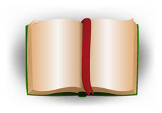 Illustration of a blank book Royalty Free Stock Photo