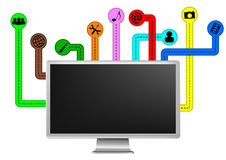 Multimedia monitor Stock Image