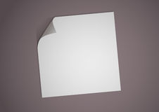 Illustration of a blank white paper Stock Images