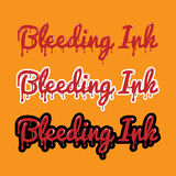 Illustration bleeding ink Royalty Free Stock Images