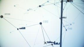 Illustration bleue abstraite futuriste de la connexion réseau de cryptocurrency 3D illustration libre de droits