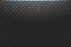 Illustration bleue d'abrégé sur vague de scintillement de nuage de vecteur Particules de scintillement de traînée de la poussière illustration libre de droits
