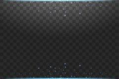 Illustration bleue d'abr?g? sur vague de scintillement de nuage de vecteur Particules de scintillement de tra?n?e de la poussi?re illustration de vecteur
