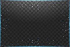 Illustration bleue d'abr?g? sur vague de scintillement de nuage de vecteur Particules de scintillement de tra?n?e de la poussi?re illustration libre de droits