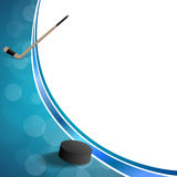 Illustration bleue de cadre de galet de glace d'hockey abstrait de fond Images libres de droits