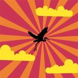 Illustration bleue de héron Image libre de droits