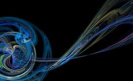 Illustration bleue de planète Images libres de droits