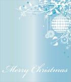 Illustration bleue de vecteur de Joyeux Noël Images libres de droits