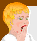 Illustration of blond woman Royalty Free Stock Image
