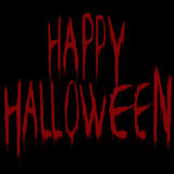 Illustration with bloody Happy Halloween title over black backgr Royalty Free Stock Photography