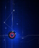 Illustration Blue abstract technology circuit background. Stock Photography