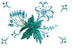 Illustration of blue bell flowers Stock Photography