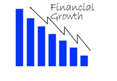 A blue and black line graph for financials and growth. An illustration of blue and black line graph for financials and growth Royalty Free Stock Photography