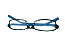 Blue fashion glasses Royalty Free Stock Images