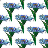 Illustration of a blue flower Stock Photos