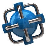 Blue globalization and network icon Royalty Free Stock Image