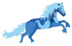 Illustration blue Horse Stock Image