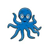 Octopus with mobile phone Stock Photos