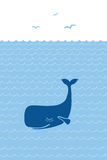 Illustration of Blue whale Stock Photos