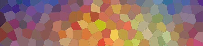 Illustration of blue, yellow, green and red bright Little hexagon banner background. Illustration of blue, yellow, green and red bright Little hexagon banner royalty free illustration