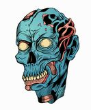 Illustration of blue zombie head Stock Image