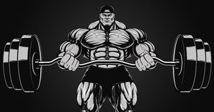 Illustration, bodybuilder with a barbell Royalty Free Stock Image